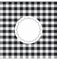 Black checkered background vector image