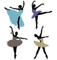 ballerinas 2 vector image vector image