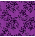 Flower and bytterfly lacy seamless background vector image vector image