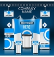 Exhibition stand design vector image