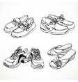 Sketch of shoes for men and women moccasins vector image vector image