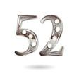 52 years anniversary celebration design vector image