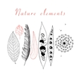 Natural set of different objects vector image