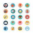 Love and Romance Flat Colored Icons 3 vector image