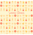 Summer floral love Background vector image vector image