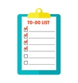 Agenda list icon vector image