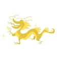 Funny flat cartoon Chinese golden dragon vector image