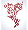 abstract background in tattoo style vector image