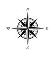 black compass icon on a white background vector image