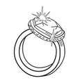cartoon image of diamond ring vector image