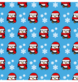 Christmas background penguin vector image