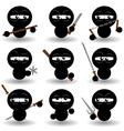 ninjas vector image