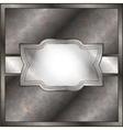 Rusty metal frame vector image