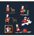 Santa Clauses set for christmas vector image