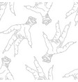 seamless pattern with chicken legs vector image