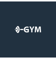Sport gym logo with barbell vector image