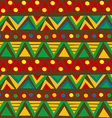 Triangular geometric pattern in ethnic style with vector image