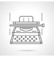 Typescript equipment flat line icon vector image