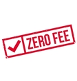 Zero fee stamp vector image