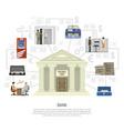 flat bank infographics vector image