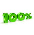 green numbers sale 100 persents off on a white vector image