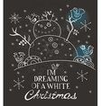 Christmas Card for xmas design with hand drawn vector image vector image