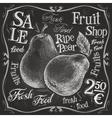 ripe pear logo design template fresh fruit vector image