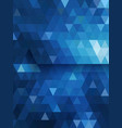 Blue triangle background diamond shape vector image