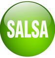 salsa green round gel isolated push button vector image