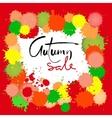 Autumn Sale inscription for banners season sale vector image