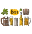 Beer class can bottle barrel vector image