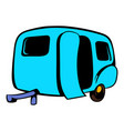 camping trailer icon icon cartoon vector image