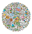 circle easter vector image
