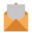 envelope mail isolated icon vector image