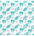 fabric textile seamless pattern with sea fishes vector image
