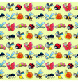 Funny insects with background vector image