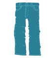jeans flat style vector image