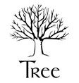 simply tree logo black silhouette tree with text vector image