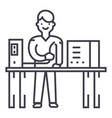 system administrator line icon sign vector image