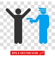 Police Arrest Eps Icon vector image
