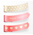 Beautiful valentine ribbons vector image vector image