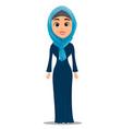 arabic woman standing straight businesswoman vector image