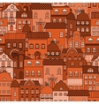 Seamless pattern with old town vector image vector image