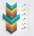Minimal infographics or Step banners template in vector image