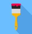 paint brush icon vector image vector image