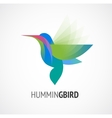 Tropical bird - humming icon vector image vector image