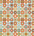 Vintage pattern of geometric shapes and flowers vector image