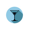 Classic half full martini glass alcohol and vector image