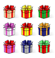 gift contour set vector image vector image