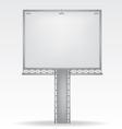 billboard on white background vector image vector image